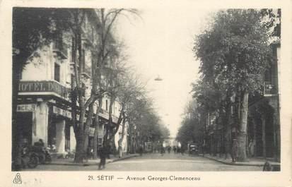 """CPA ALGERIE """"Sétif, avenue G. Clemenceau"""""""