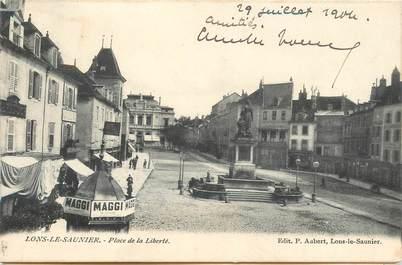 """CPA FRANCE 39 """"Lons le Saunier, Place de la Liberté"""""""