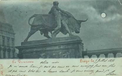 """CPA BELGIQUE """" Liège, le taureau"""""""