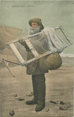 "CPA FRANCE 50 ""Granville, pêcheur"""