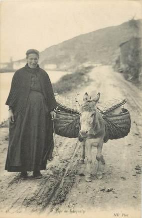 """CPA FRANCE 64 """"Type de Basquaise et son âne"""""""