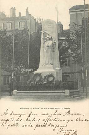 """/ CPA FRANCE 38 """"Bourgoin, monument aux morts"""""""