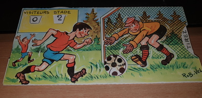 RARE CPA A SYSTEME / ILLUSTRATEUR ROB VEL / FOOTBALL