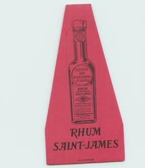 PETIT PAPIER PUBLICITAIRE RHUM SAINT JAMES / ALCOOL BOISSON