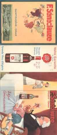 DEPLIANT PUBLICITAIRE / VIN / ALCOOL / ALGERIE
