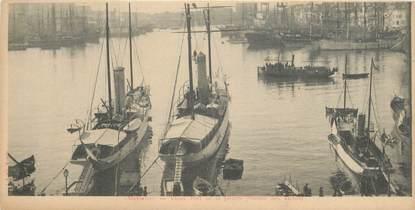 """CPA PANORAMIQUE FRANCE 13 """"Marseille, vieux port de la Joliette"""""""