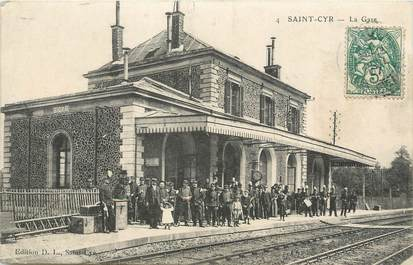"/ CPA FRANCE 78 ""Saint Cyr, la gare"""