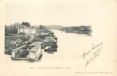 """/ CPA FRANCE 78 """"Mantes, vue prise du pont de Mantes"""""""