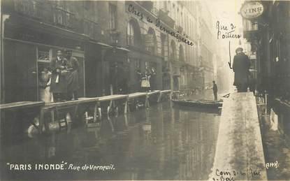 """CARTE PHOTO FRANCE 75007 """"Paris Inondé, rue de Verneuil"""""""