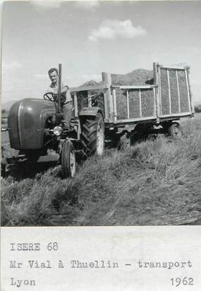 """PHOTO FRANCE 38 """"Thuellin, 1962"""" / AGRICULTURE"""