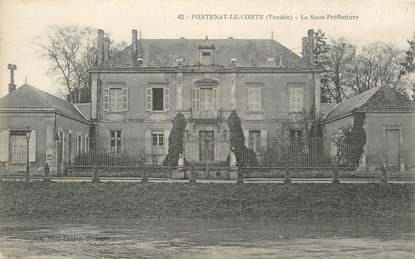 """CPA FRANCE 85 """"Fontenay le Comte, la sous préfecture"""""""