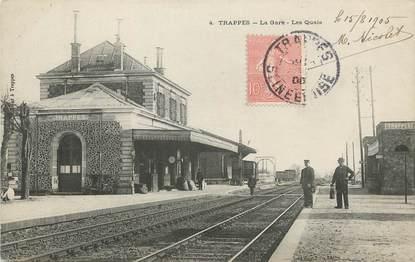 "/ CPA FRANCE 78 ""Trappes, la gare, les quais"""