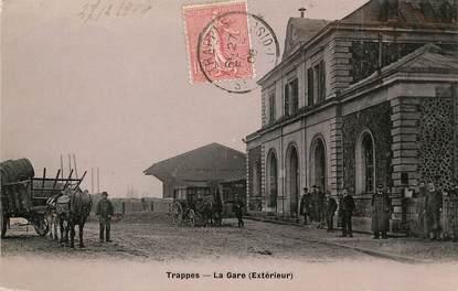 """/ CPA FRANCE 78 """"Trappes, la gare"""""""
