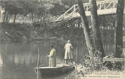 """/ CPA FRANCE 78 """"Poissy, la pêche à la ligne"""""""