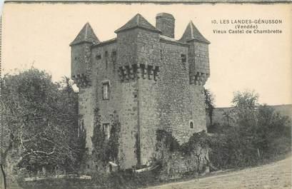 """CPA FRANCE 85 """"Les Landes Genusson, vieux Castel de Chabrette"""""""