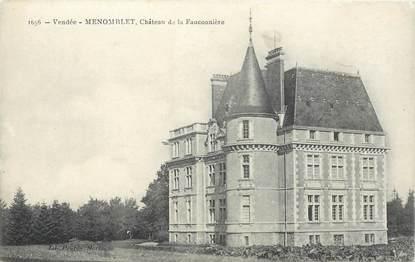 """CPA FRANCE 85 """"Menomblet, Chateau de la Fauconnière"""""""