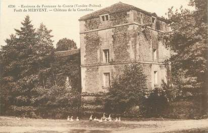 """CPA FRANCE 85 """"Foret de Mervent, Chateau de la Citardière"""""""