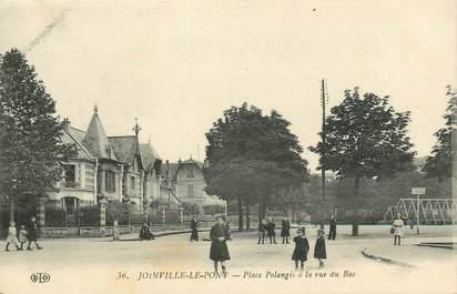 """CPA FRANCE 94 """"Joinville le Pont, Place Polangis à la rue du Bac"""""""