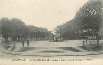 """CPA FRANCE 85 """"Luçon, la Place Belle Croix"""""""