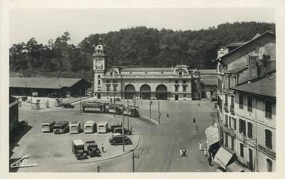 """/ CPSM FRANCE 64 """"Bayonne, place de la gare et la gare"""""""