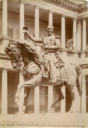 "LOT ITALIE ""Milan, ~ 1880, Statue Napoléon III"""