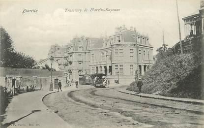 "/ CPA FRANCE 64 ""Tramway de Biarritz Bayonne"" / BAB"
