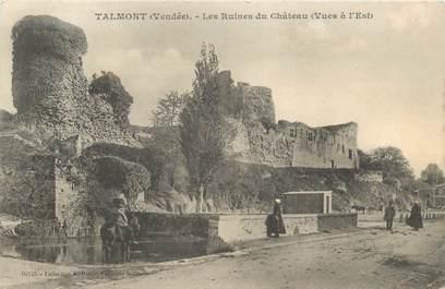 "CPA FRANCE 85 ""Talmont, les ruines du Chateau"""