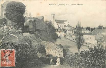 """CPA FRANCE 85 """"Talmont, le chateau et l'Eglise"""""""
