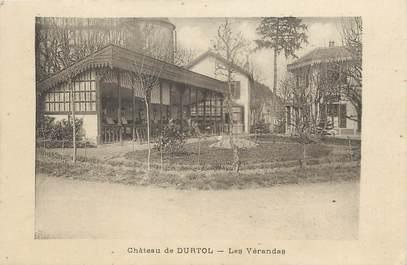 """/ CPA FRANCE 63 """"Château de Durtol, les vérandas"""""""