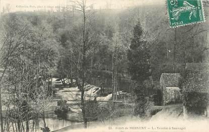 """CPA FRANCE 85 """"Forêt de Mervent, la Vendée à Sauvaget"""""""