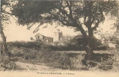 "CPA FRANCE 85 ""Saint Jean l'Orbestier, l'Abbaye"""