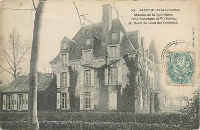 """CPA FRANCE 85 """"Saint Gervais, chateau de la Bonnière"""""""