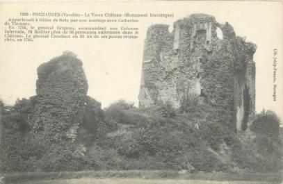 """CPA FRANCE 85 """"Pouzauges, les ruines du vieux chateau"""""""