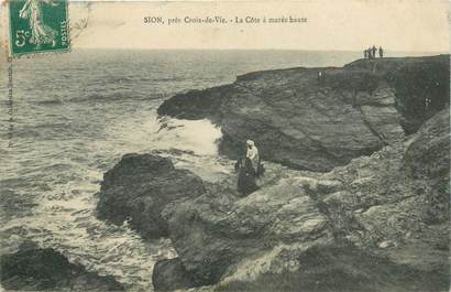 """CPA FRANCE 85 """"Sion, La Côte à marée haute"""""""