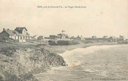 """CPA FRANCE 85 """"Sion sur l'Océan, la plage à marée haute"""""""