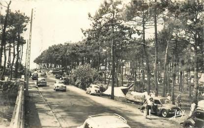 """CPSM FRANCE 85 """"Sion sur l'Océan, avenue de la Forêt et le camping"""""""