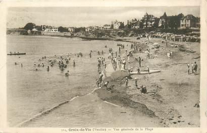 """CPA FRANCE 85 """"Saint Gilles Croix de Vie, la plage"""""""