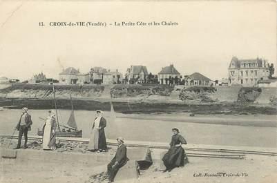 """CPA FRANCE 85 """"Saint Gilles Croix de Vie, la petite Côte et les chalets"""""""