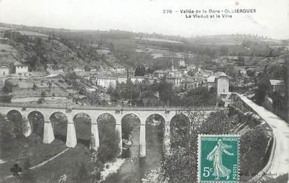 """/ CPA FRANCE 63 """"Olliergues, le viaduc et la ville"""""""