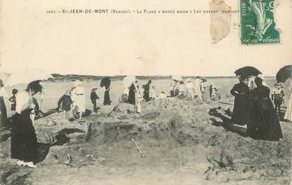"""CPA FRANCE 85 """"Saint Jean de Monts, la plage à marée basse"""""""