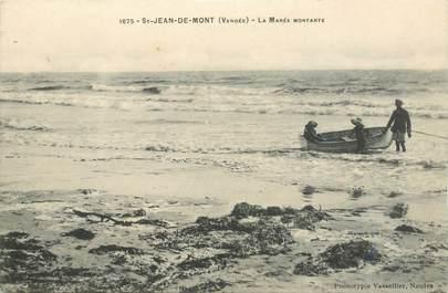 """CPA FRANCE 85 """"Saint Jean de Monts, la marée montante"""""""