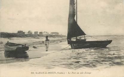 """CPA FRANCE 85 """"Saint Jean de Monts, le port un soir d'Orage"""""""