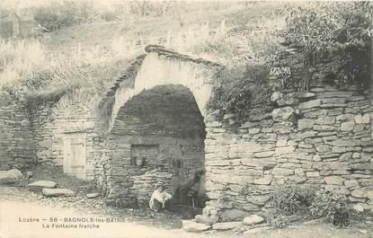 """CPA FRANCE 48 """"Bagnols les Bains, la Fontaine fraiche"""""""