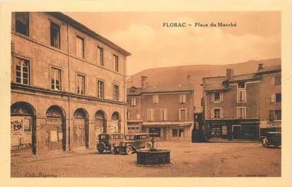 """CPA FRANCE 48 """"Florac, La Place du Marché"""""""