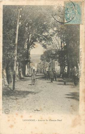 "CPA FRANCE 48 ""Langogne, avenue du Chemin Neuf"""