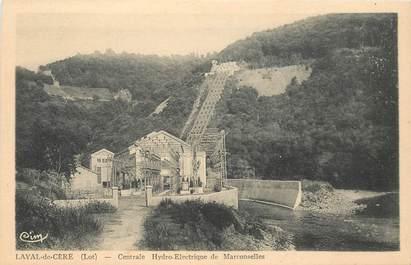 """CPA FRANCE 46 """"Laval de Cère, centrale hydro electrique de Marconselles"""""""