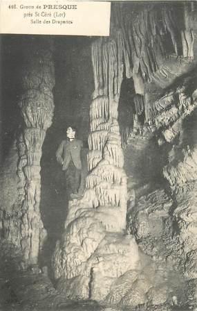 """CPA FRANCE 46 """"Grottes de Presque près de Saint Céré"""""""