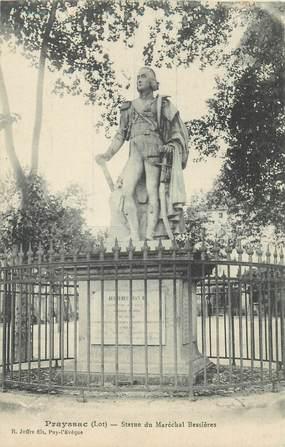 "CPA FRANCE 46 ""Prayssac, statue du Mal Bessières"""
