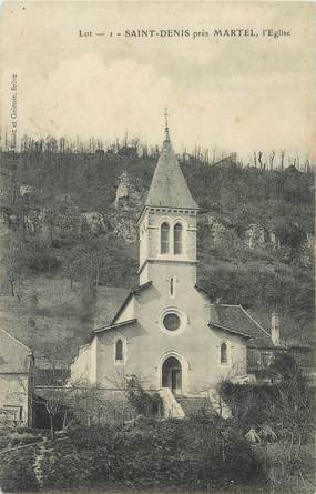 "CPA FRANCE 46 ""Saint Denis Martel, Eglise"""