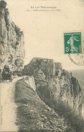 """CPA FRANCE 46 """"Route près de Vers"""""""